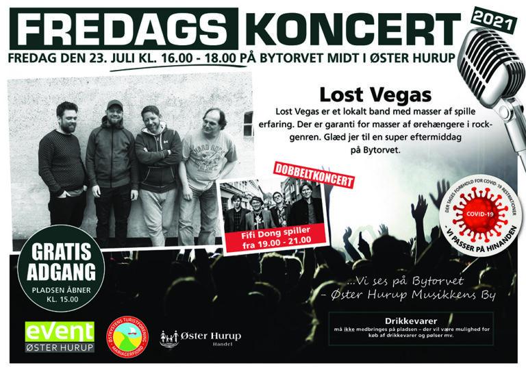 Fredagskoncert 23 juli Lost Vegas
